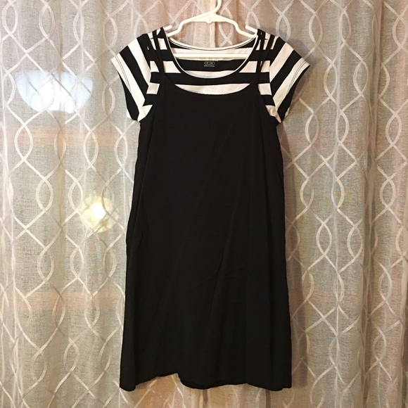 Children's Place Other - Children's place dress black/white w/striped shirt